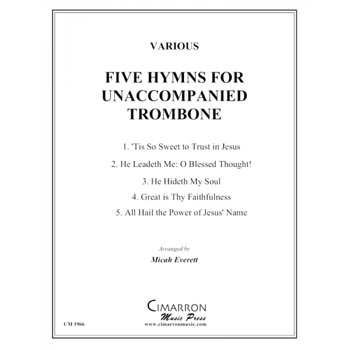 Five Hymns for Unaccompanied Trombone