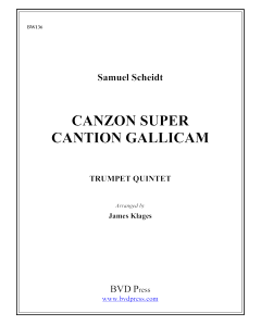 Canzon super Cantion Gallicam