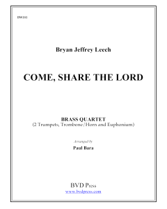 Come, Share the Lord