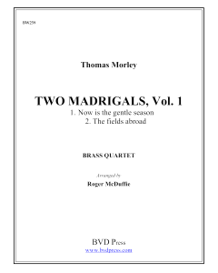 2 Madrigals, Vol. 1