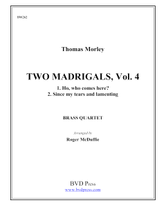 2 Madrigals, Vol. 4