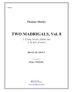 2 Madrigals, Vol. 8