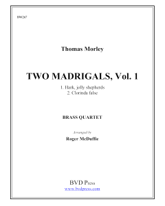 2 Madrigals, Vol. 9