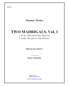 2 Madrigals, Vol.10