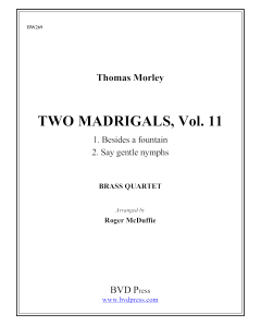 2 Madrigals, Vol.11