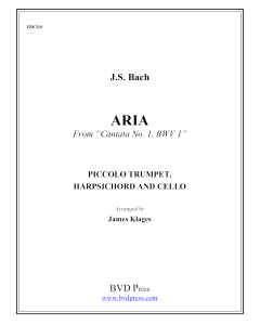 Aria from Cantata No. 1, BWV 1