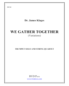 We Gather Together (Variations)