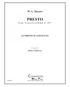 Presto from Concerto in Bb, K.207