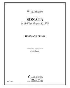 Sonata in B-Flat Major, KV 378