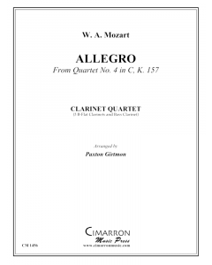 Allegro from Quartet No. 4 in C, K. 157
