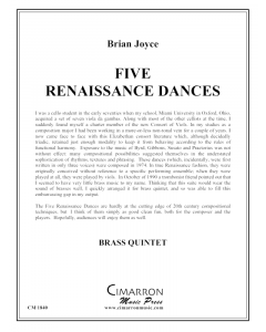 Five Renaissance Dances