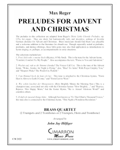 Preludes for Advent and Christmas