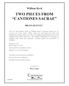 "Two Pieces from ""Cantiones Sacrae"""