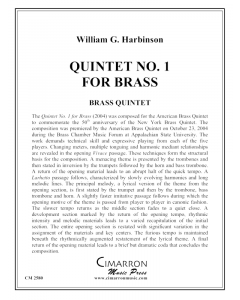 Quintet No. 1 for Brass