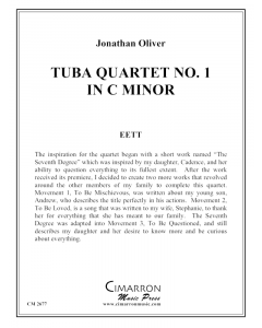 Tuba Quartet No. 1 in c minor