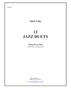 12 Jazz Duets for Two Flutes