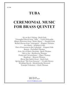 Ceremonial Music for Brass Quintet (tuba)