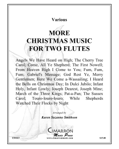 More Christmas Music for Two Flutes