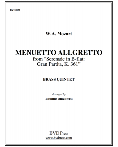 "Menuetto Allegretto from ""Gran Partita"""