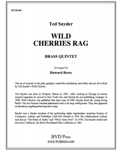 Wild Cherries Rag