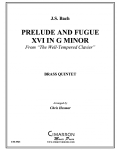 Prelude and Fugue XVI in g minor