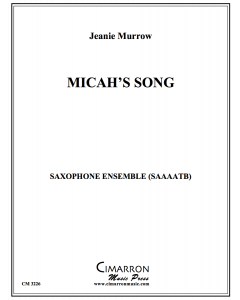 Micah's Song (Saxophone ensemble version)