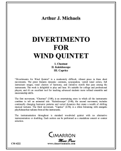 Divertimento for Wind Quintet