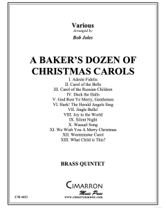 A Baker's Dozen of Christmas Carols