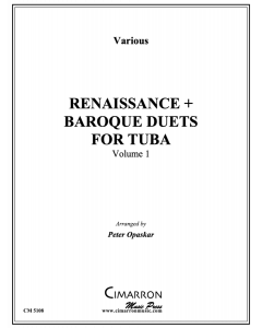 Renaissance + Baroque Duets for Tuba, Vol. 1