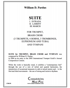 Suite for Solo Trumpet, Brass Choir and Tympani