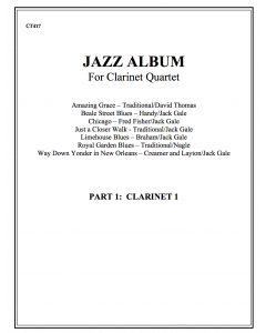Jazz Album (clarinet quartet - part 1 Bb cl)