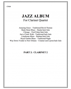 Jazz Album (clarinet quartet - part 2 Bb cl)