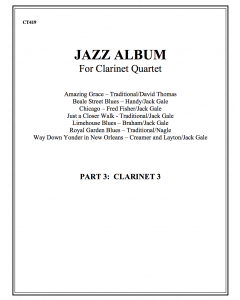 Jazz Album (clarinet quartet - part 3 Bb clar)
