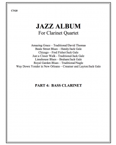 Jazz Album (clarinet quartet - part 4 Bass cl)