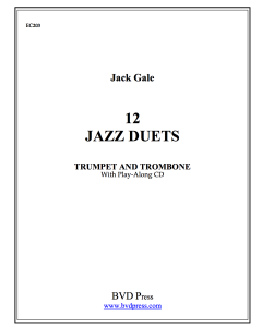 12 Jazz Duets for Trumpet and Trombone
