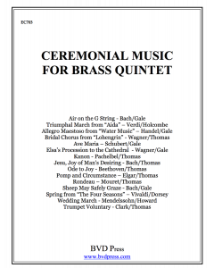 Ceremonial Music for Brass Quintet (complete set)