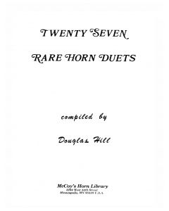 Shipped - 27 Rare Horn Duets
