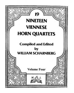 Shipped - Nineteen Viennese Horn Quartets volume IV