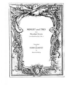 "Shipped - Minuet and Trio from ""Moonlight Sonata, Op. 27 #2"""