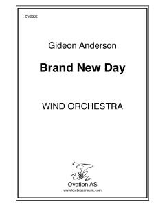Andersson - A Brand New Day (wind orchestra)