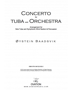 Concerto for tuba (arr. tuba and symphonic wind section)