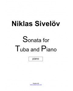 Sivelöv - Sonata for tuba and piano
