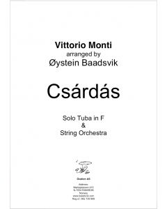 Czardas for tuba and strings (version for F tuba)