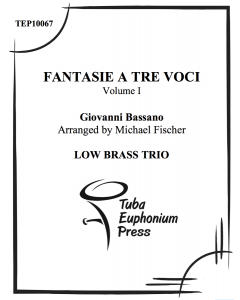 Fantasie a tre voci (fantasie for three instruments), vol. 1
