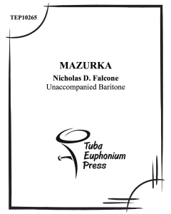 Mazurka for Solo Euphonium