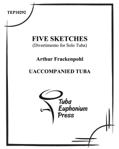 Five Sketches for Solo Tuba