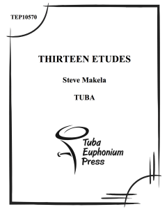 Thirteen Etudes