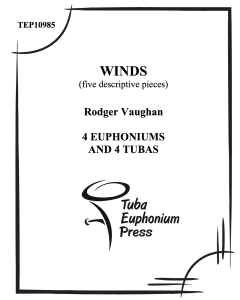 Winds: Five Descriptive Pieces for Tuba-Euphonium Octet
