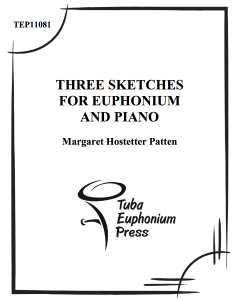 Three Sketches For Euphonium and Piano