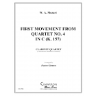 First Movement from Quartet No. 4 in C (K. 157)